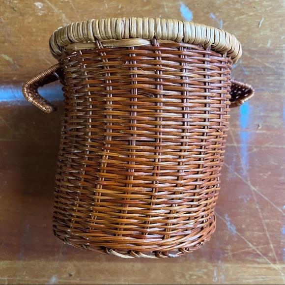 Vintage Wicker Woven Storage Basket